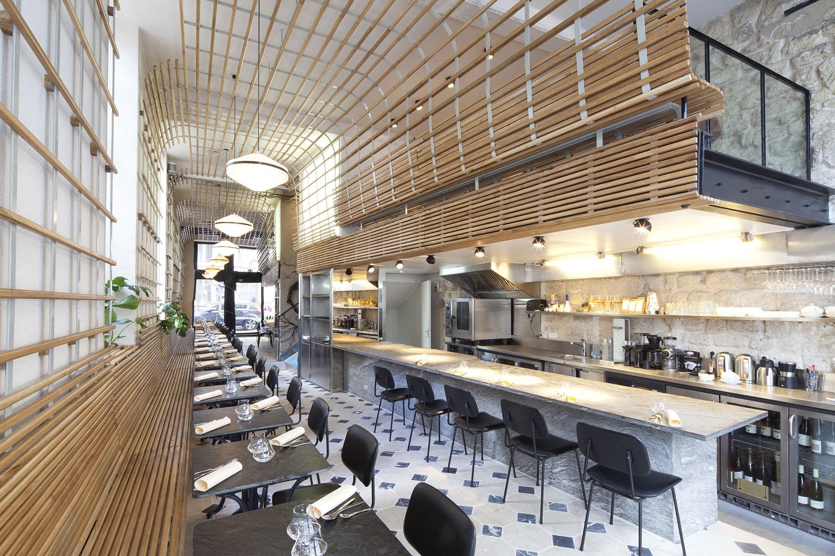 Bar En Pierre De Taille restaurant dessance – joseph grappin studio